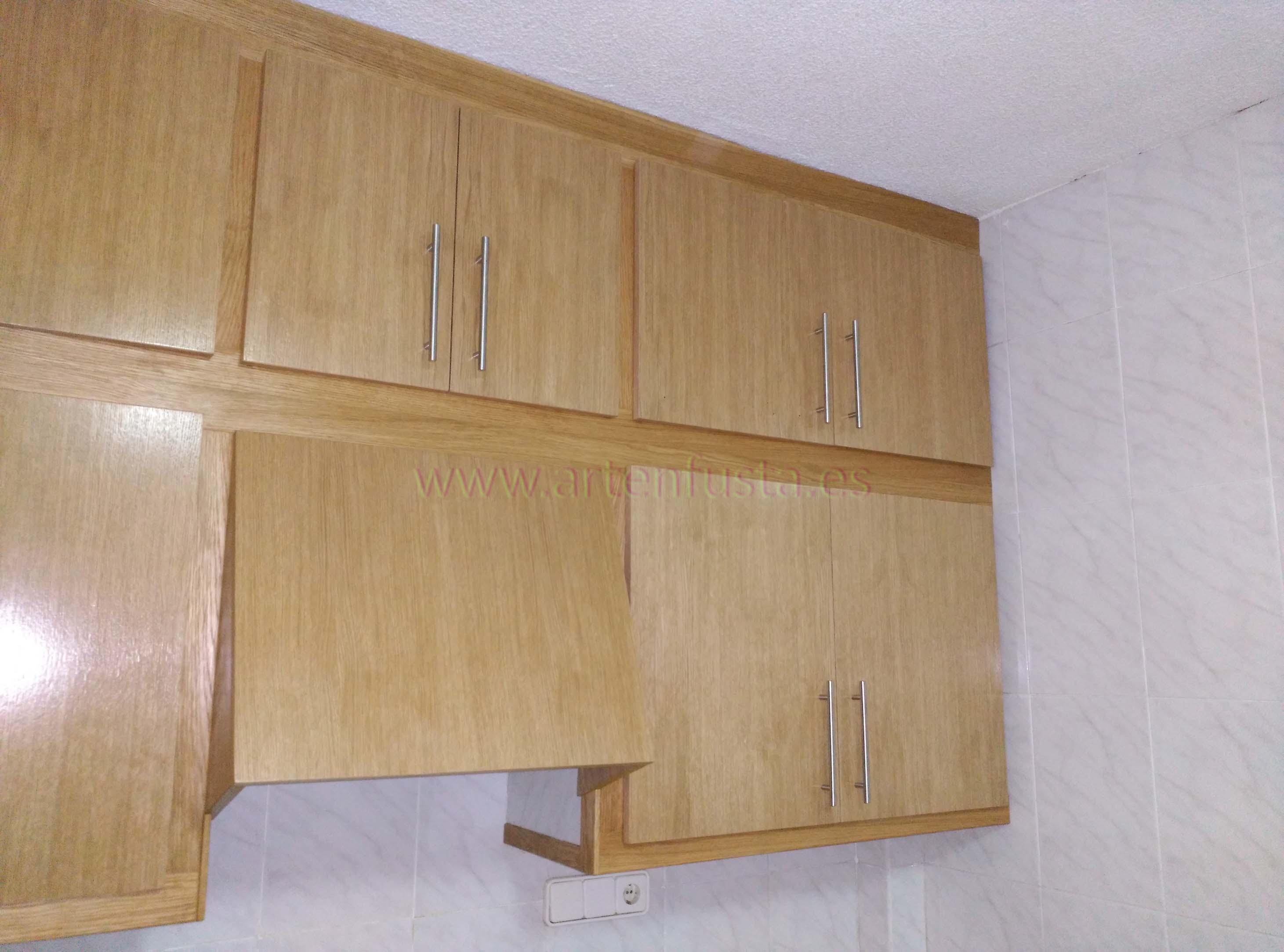 Muebles de cocina de roble lacada de obra antiguaelche for Muebles anticrisis el castor alicante